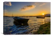 Sunset in Poole Harbour , Canvas Print