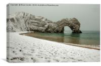 Durdle Door winter morning , Canvas Print