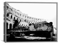 Colosseum from the ground., Canvas Print