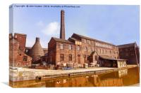 Middleport pottery factory, Stoke-on-Trent, Staffs, Canvas Print