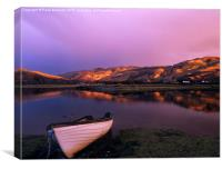 Glenmore River at Dusk in Scotland, Canvas Print
