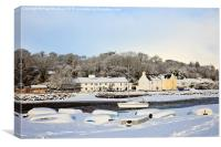 Snow in Red Wharf Bay, Canvas Print