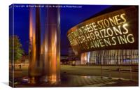 Millennium Centre Cardiff at Night, Canvas Print