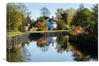 Droitwich Canal Reflections, Canvas Print