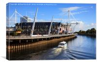 Millennium stadium in Cardiff, Canvas Print