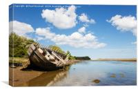 Anglesey Shipwreck, Canvas Print
