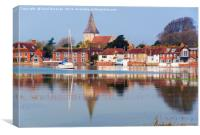 Old Bosham Reflected, Canvas Print