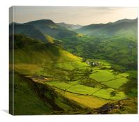 Lake District, England, Newlands Valley, Canvas Print