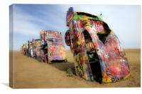Cadillac Ranch 4325, Canvas Print