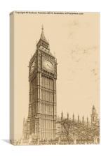 Big Ben - Antique Look, Canvas Print
