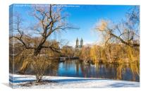 Central Park and Upper West Side, New York, Canvas Print
