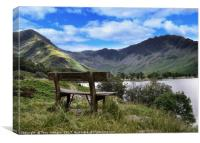 Buttermere Bench, Canvas Print