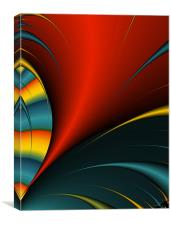 Abstract Feather Close-up, Canvas Print