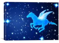 Pegasus Flying In the Night, Canvas Print