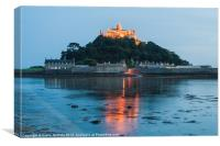 St Michaels Mount at Twilight, Canvas Print