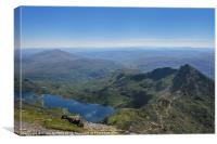 View from the top of Snowdon, Canvas Print