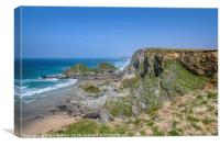 North Cornwall Coast near Porth, Canvas Print