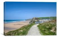 Watergate Bay, Canvas Print
