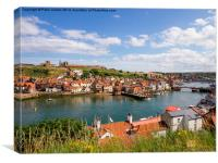 Whitby Harbour Summer, Canvas Print