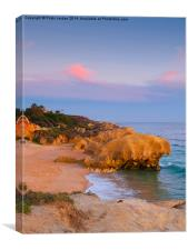 Evening light at Galé beach., Canvas Print