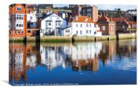 Dolphin Inn and James Cook Museum buildings in the, Canvas Print