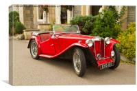Red Roadster, Canvas Print