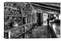 In the Potting Shed, Canvas Print