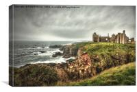 Slains Castle, Canvas Print