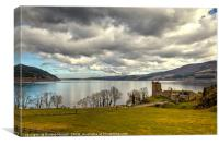 Castle Urquhart and Loch Ness, Canvas Print