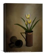 Tulip in old copper cup 2, Canvas Print