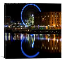 Liverpool wheel (square crop), Canvas Print