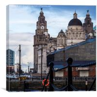 Liverpool's waterfront, Canvas Print