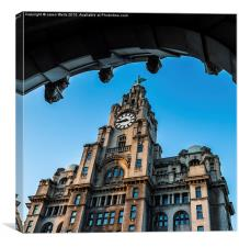 Framing the Royal Liver Building, Canvas Print