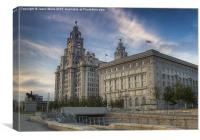 Cunard Building & the Royal Liver Building, Canvas Print