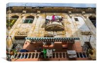 Laundry out in Centro Havana, Canvas Print