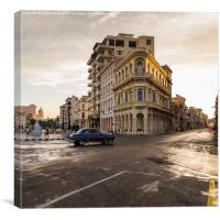 Havana at sunset, Canvas Print