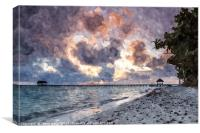 Dawn on the beach of Cayo Guillermo, Canvas Print