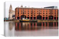 Albert Dock long exposure, Canvas Print
