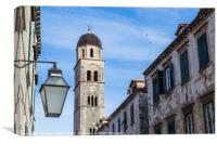 The Stradun in Dubrovnik, Canvas Print