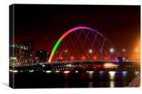 Squinty Bridge, Glasgow, Canvas Print