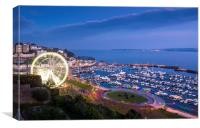 Torquay Harbour and Wheel, Canvas Print