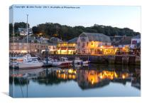 Padstow Harbour., Canvas Print