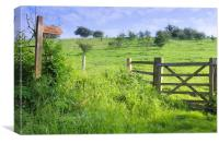 Public Bridleway, East Yorkshire, Canvas Print