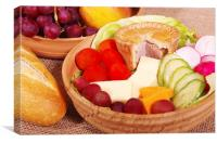 Traditional English Ploughmans Lunch, Canvas Print