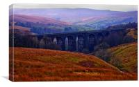 Denthead Viaduct. Yorkshire Dales, Canvas Print