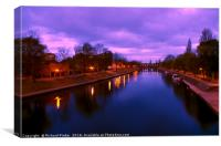 Sunrise over the River Ouse, York, Canvas Print