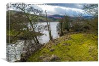River Bain and Semerwater, North Yorkshire., Canvas Print