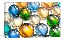 Glass balls marbles abstract, Canvas Print