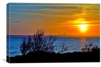 Fawley Sunset, Canvas Print