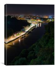From the Clifton suspension bridge, river Avon and, Canvas Print